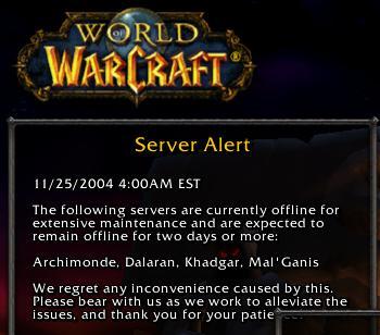 Servers down